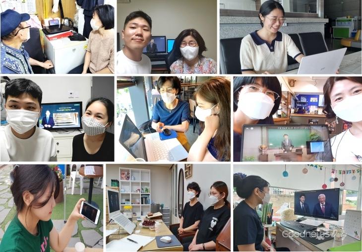 초청한 사람들을 찾아가 캠프에 함께 참석한 서울지역 성도들